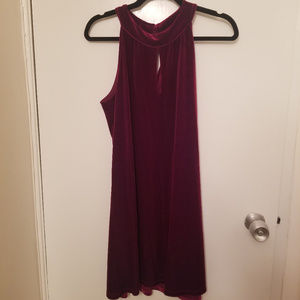 Veronica M Red Velvet Dress